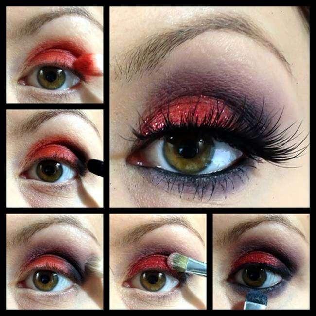 Evening makeup for brown