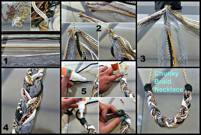 chunky braid necklace
