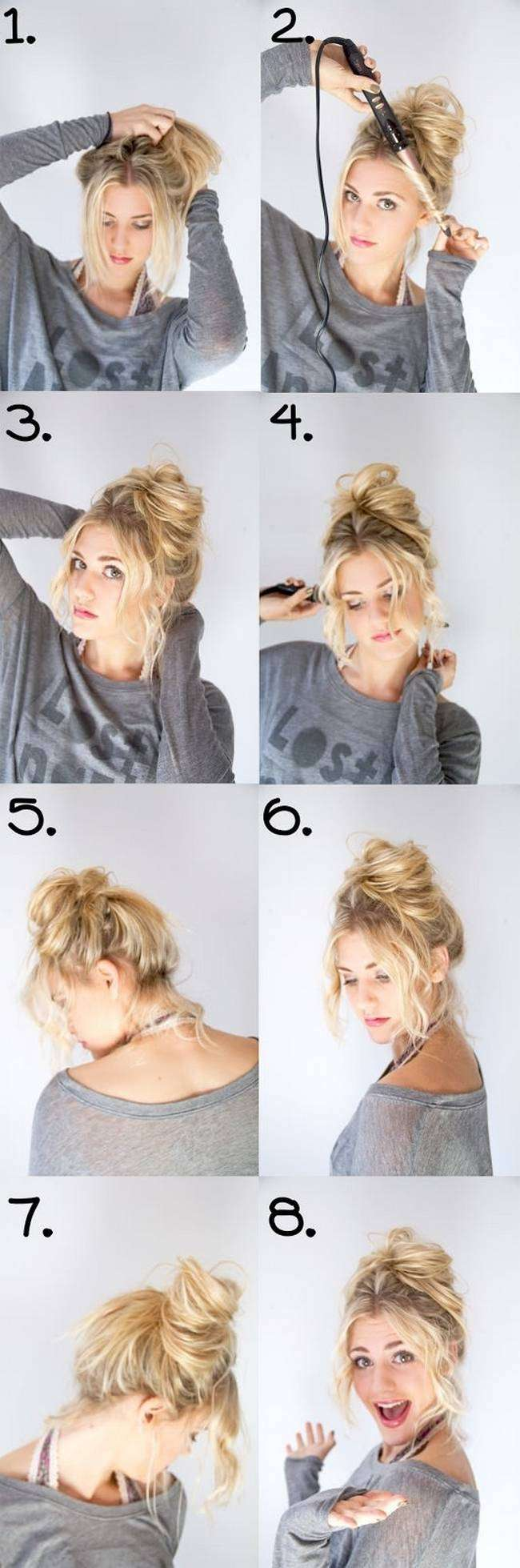 21 Easy Messy Bun Tutorials For The Perfect Disheveled Look - Gurl ...