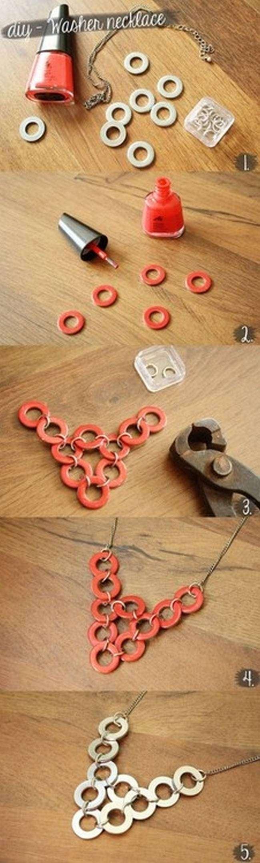 DIY metal necklace