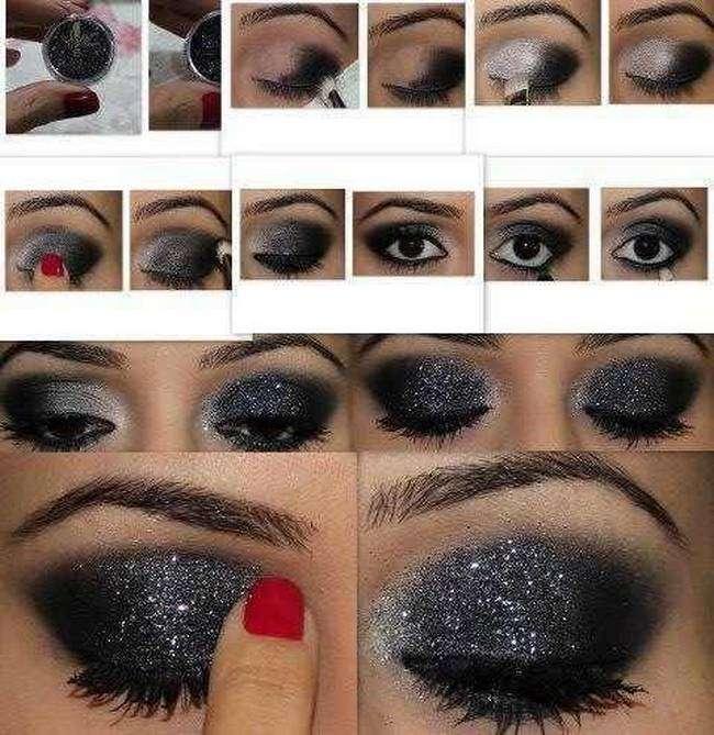 Как сделать самой макияж глаз